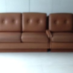 "Ledersofa ""cognac and wine"""
